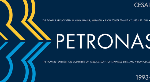 Petronas Towers Architecture Poster