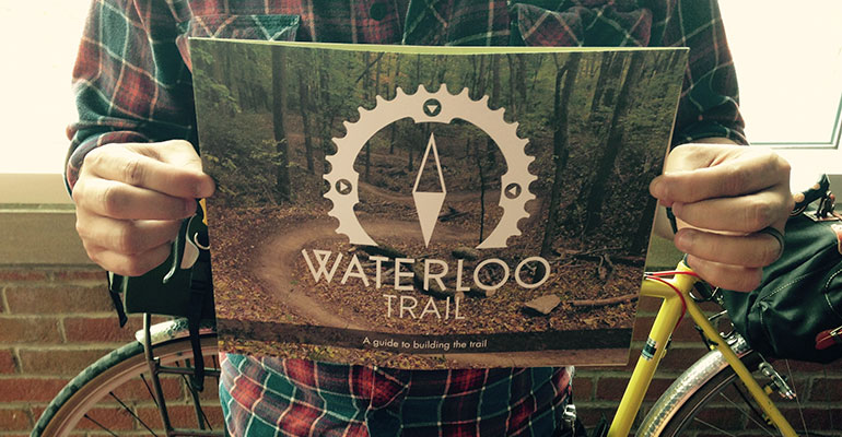 Image of the Waterloo Trail fundraiser brochure