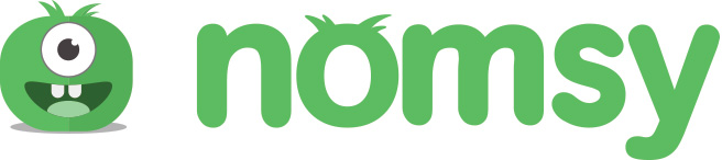 Image of the Nomsy icon and wordmark.